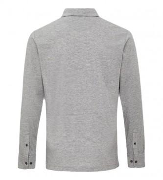 HACKETT Polo Filafil Jersey cinza claro