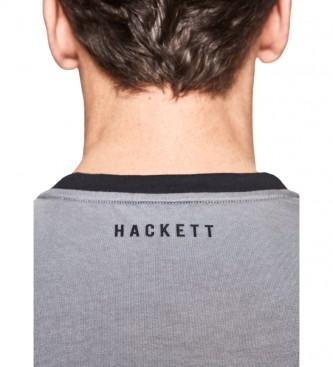 HACKETT T-shirt multicolore con stampa lineare effetto sfumato, gialla