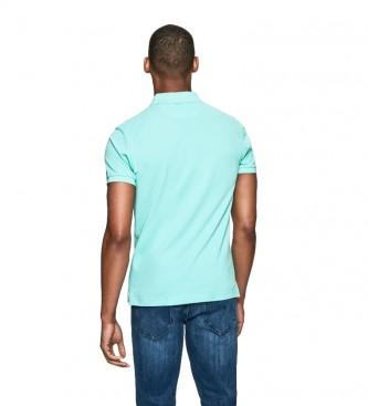 HACKETT Polo con Logo Fit Slim blu