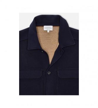 HACKETT Mr Double Face navy sweater