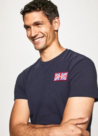 HACKETT Camiseta com crachá da marinha GB