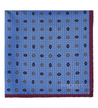 HACKETT Pañuelo Face Neat & Puppy azul