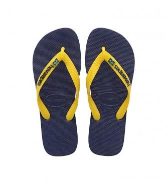 Havaianas Infradito Brasil Layers blu navy