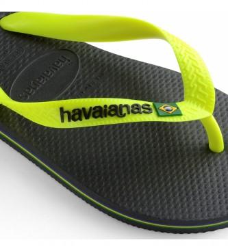 Havaianas Flip flops Brasil Logotipo Brasil cinza