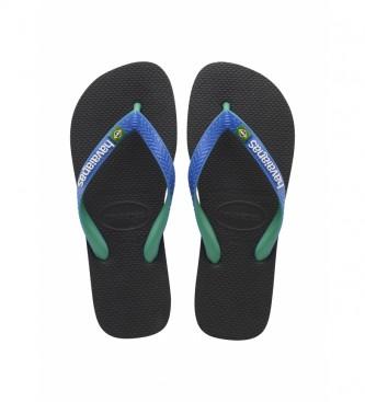 Havaianas Flip flops Brasil Misturar preto, azul