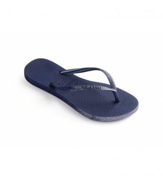 Havaianas Infradito Slim Sparkle II blu navy