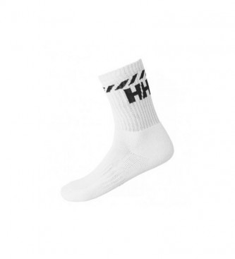 Helly Hansen Lot de 3 chaussettes de sport en coton blanc