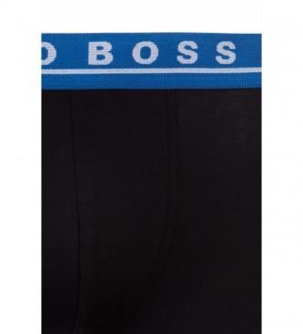 Hugo Boss Pack de 3 Boxers de Algodón Elástico negro
