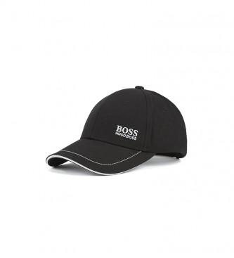 Hugo Boss Boné de Basebol de Algodão Twill com Logotipo Bordado Preto