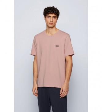 Hugo Boss T-shirt Loungwear em algodão Stretch branco nú