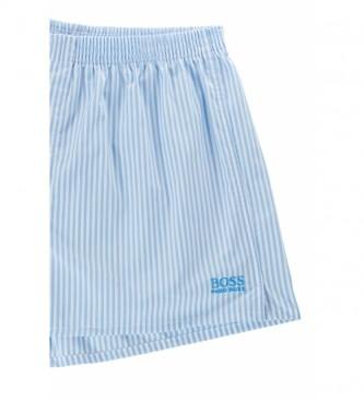 Hugo Boss Confezione da 2 pantaloncini pigiama in popeline NOS blu
