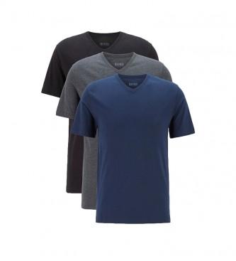 Hugo Boss Pack de 3 Camisetas VN CO 50416538 azul, marino, gris