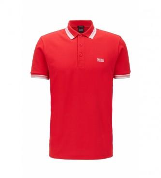 Hugo Boss Polo piqué 10102943 01 rojo