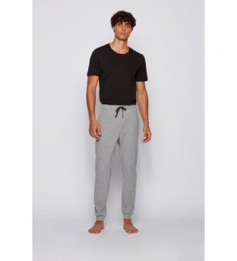 Hugo Boss Pantalon en coton Homewear Cotton Mix&Match ; noir
