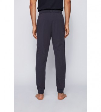 Hugo Boss Pantalón Homewear en Algodón Elástico con Logo marino