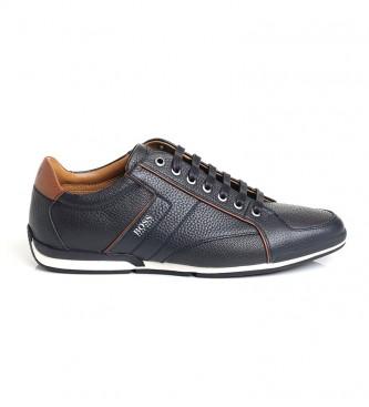 Hugo Boss Sneakers in pelle 50417392 blu navy