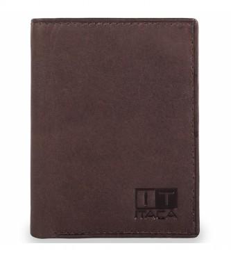 ITACA Portefeuille en cuir homme Itaca 37900 marron
