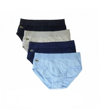 Lacoste Pack of 4 Briefs Crocodile Embroidery blue, black, grey