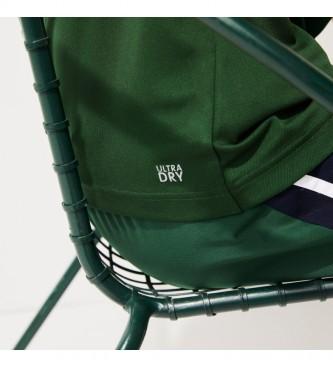 Lacoste Polo Sport Tennis em verde Pique respirável, marinha