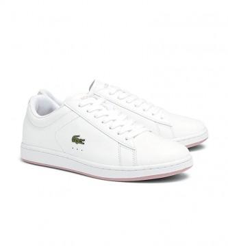 Lacoste Zapatillas de piel Carnaby Evo blanco