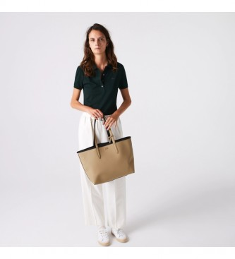 Lacoste Anna Reversible Bicolour beige, black bag -35x30x14cm