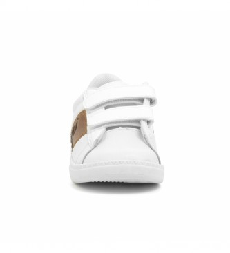Le Coq Sportif Sneakers Court Classic INF in pelle bianca