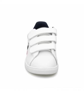 Le Coq Sportif COURTSET PS scarpe bianche, blu navy