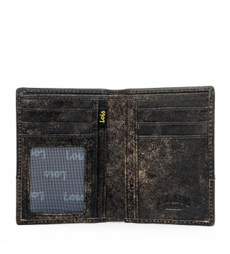 Lois Portefeuille en cuir 12518 noir -8x11cm