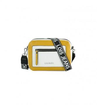 Lois Saco de ombro Mustard Neacola, branco - 24x17x8cm