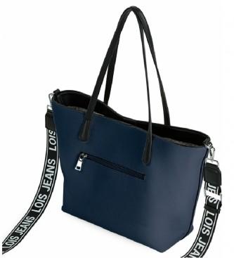 Lois Borsa shopping Neacola blu, bianca -41-29x27x12cm-