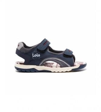 Lois Sandals 63117 navy