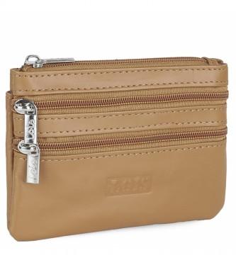 Lois Leather purse 202064 camel -12x8,5cm