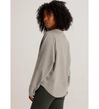 Lois T-shirt grigia Elissa-Mosset