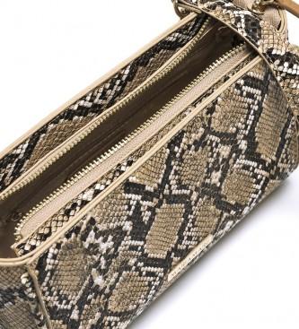 MARIAMARE Sac à bandoulière marron imprimé d'animaux des Samoa -21,5x13,5x8,5cm
