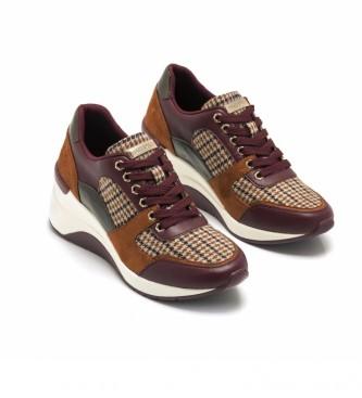 MARIAMARE Sapatos 62727 borgonha - Altura da cunha: 6,5 cm