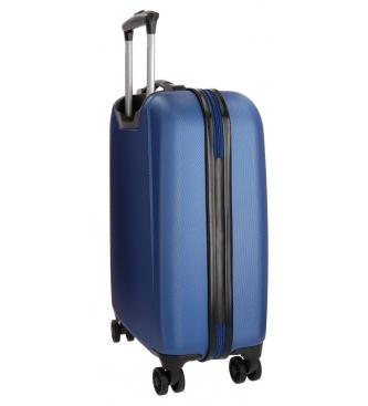 Movom Movom valise cabine Riga RÍGIDA 55cm Bleu