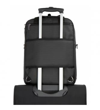 Movom Sac à dos pour ordinateur portable Movom Business avec bandoulière noire