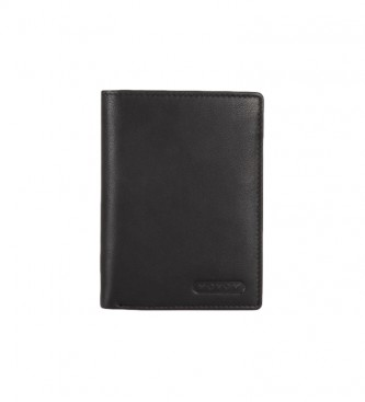 Movom Leather card holder Movom Rectangle Black -9x12.5x1cm-
