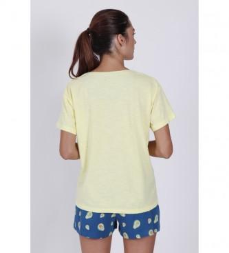 Disney & Friends Pyjama à manches courtes Avocats jaune