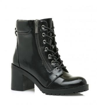 Mustang Botas de tornozelo Maya Preta - Altura do calcanhar: 7,5cm