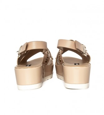 Mustang Sandals Basic nude - Wedge height: 5cm