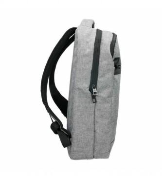 National Geographic Fluxo mochila cinza claro -31x18x44cm-