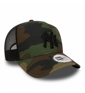 New Era New York Yankees Clean A-Frame Camouflage Trucker Hat