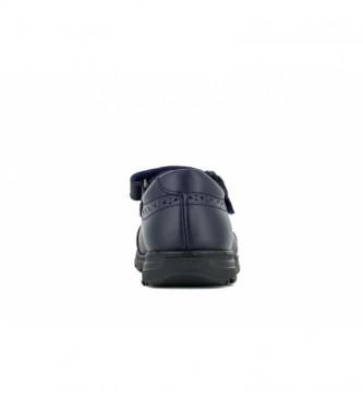 Pablosky Bailarina de couro azul marinho 334020