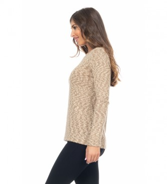 Peace and Love Jersey Tricot beige