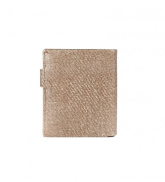 Pepe Jeans Wallet Pepe Jeans Vertical jeans with click closure Brown