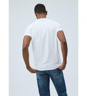 Pepe Jeans T-shirt de base Logo Eggo blanc