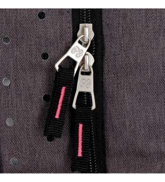 Pepe Jeans Estuche tres compartimentos Pepe Jeans Molly gris -22x12x5cm-