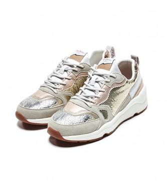 Pepe Jeans Harlow Golden Golden Sneakers