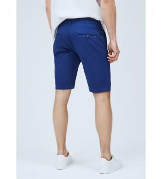 Pepe Jeans Calções Bermudas estilo Queen Chino Style Bermuda MC da Marinha